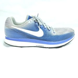 Nike Zoom Pegasus 34 Gray Blue Running Shoes